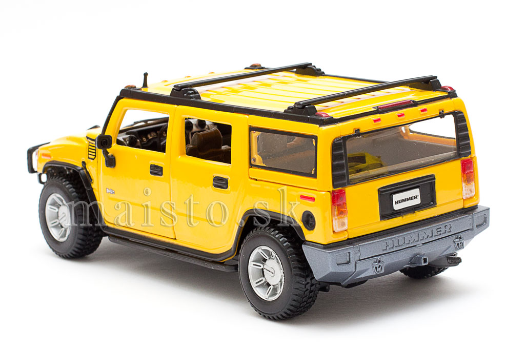 Hummer H2 SUV yellow